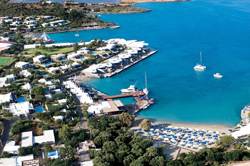 Aerial view of Elounda Beach Hotel